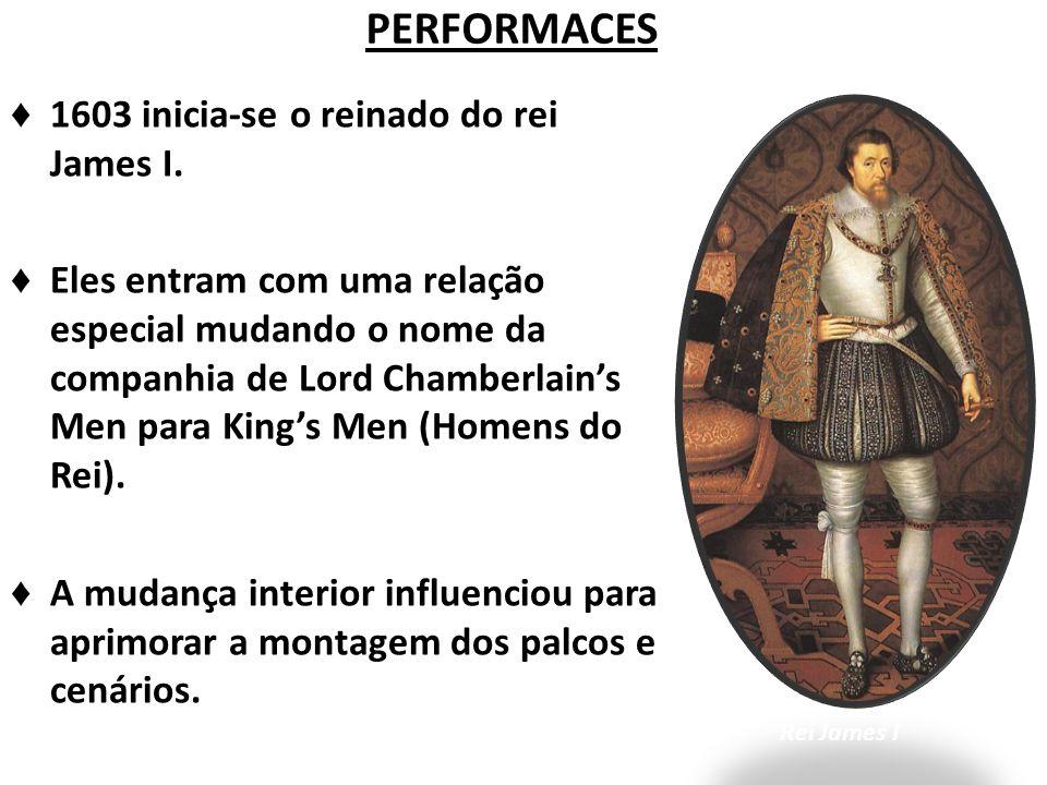 PERFORMACES 1603 inicia-se o reinado do rei James I.