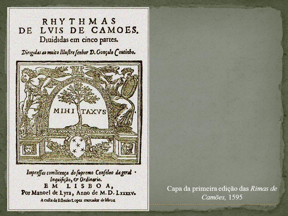Capa da primeira edição das Rimas de Camões, 1595