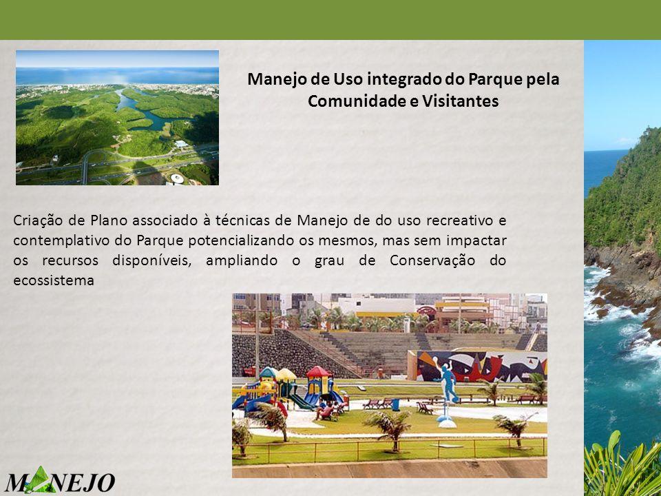 Criação de Plano associado à técnicas de Manejo de do uso recreativo e contemplativo do Parque potencializando os mesmos, mas sem impactar os recursos