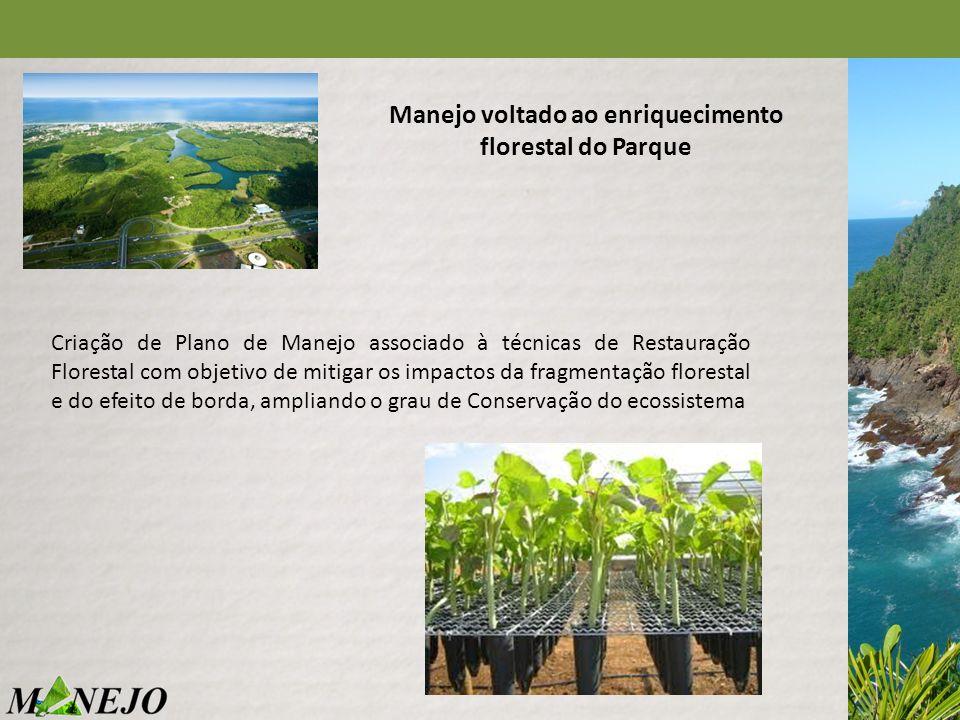 Manejo voltado ao enriquecimento florestal do Parque Criação de Plano de Manejo associado à técnicas de Restauração Florestal com objetivo de mitigar