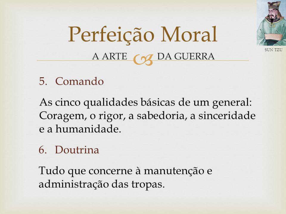 DA GUERRA Perfeição Moral A ARTE SUN TZU 3.O fator clima Compreensão e bom uso das estações do ano.