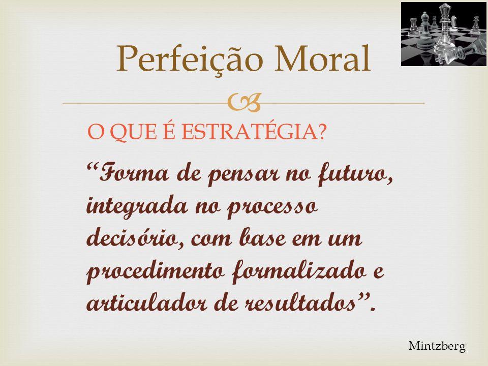 ESTRATÉGIA Perfeição Moral