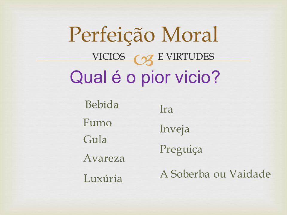 Perfeição Moral Todos os homens buscam a felicidade.