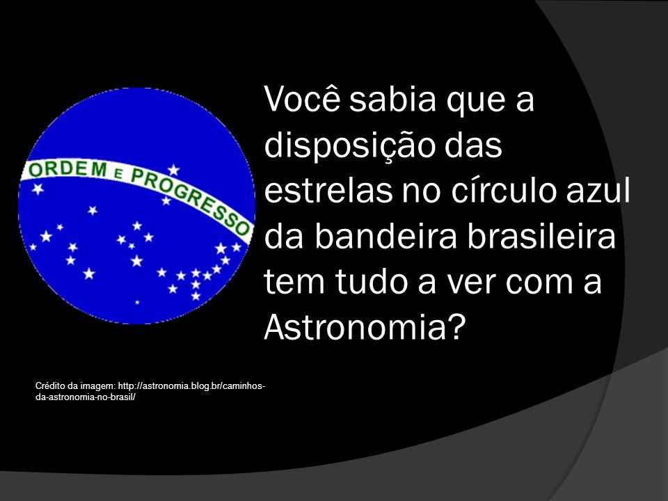 Você sabia que a disposição das estrelas no círculo azul da bandeira brasileira tem tudo a ver com a Astronomia.