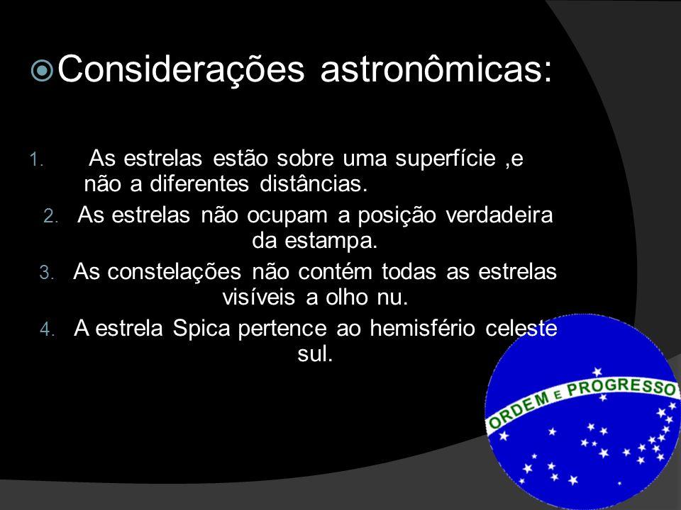 Considerações astronômicas: 1.