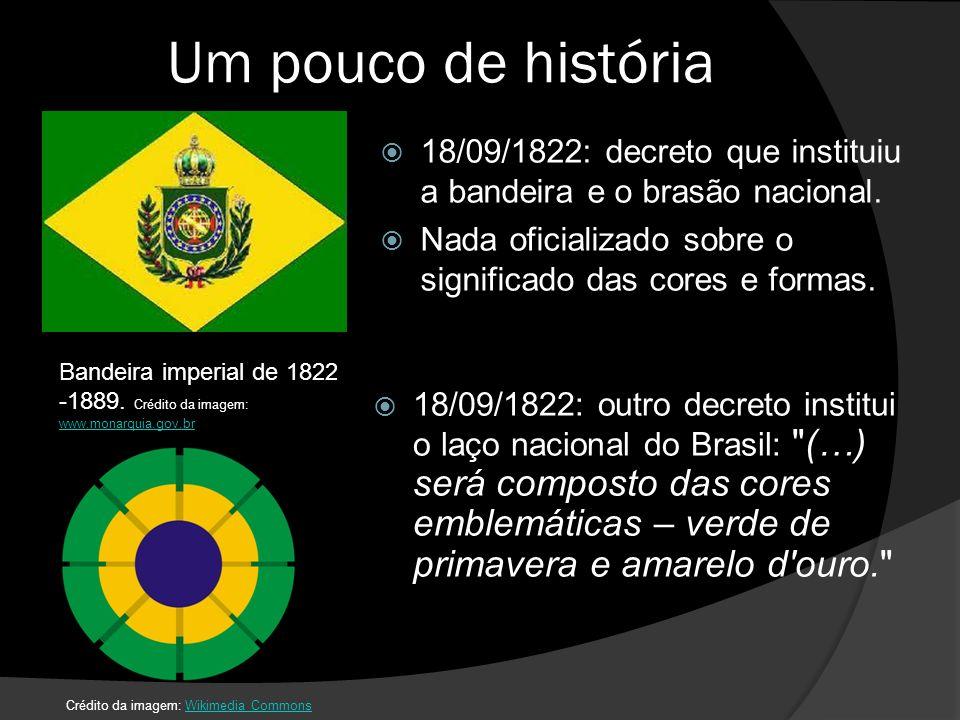 Um pouco de história 18/09/1822: decreto que instituiu a bandeira e o brasão nacional.