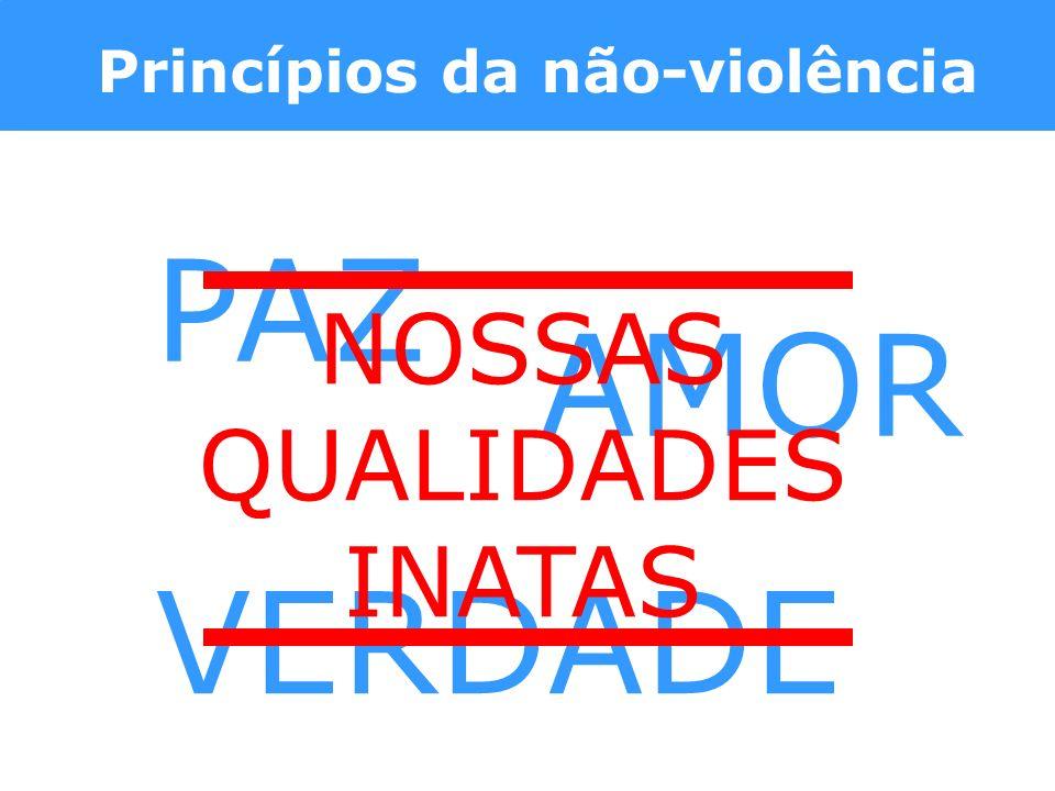 Princípios da não-violência PAZ AMOR VERDADE NOSSAS QUALIDADES INATAS