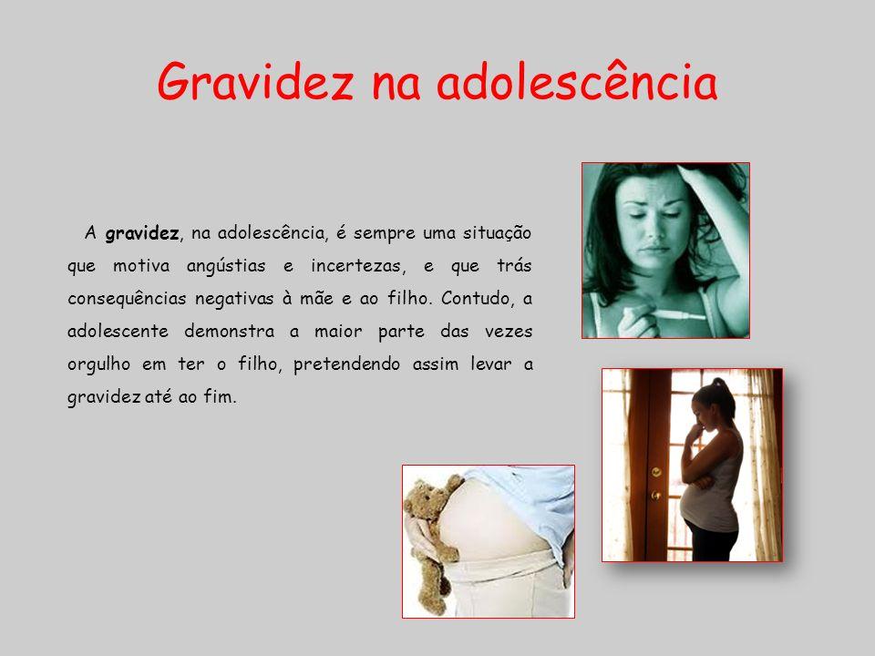 Gravidez na adolescência A gravidez, na adolescência, é sempre uma situação que motiva angústias e incertezas, e que trás consequências negativas à mã