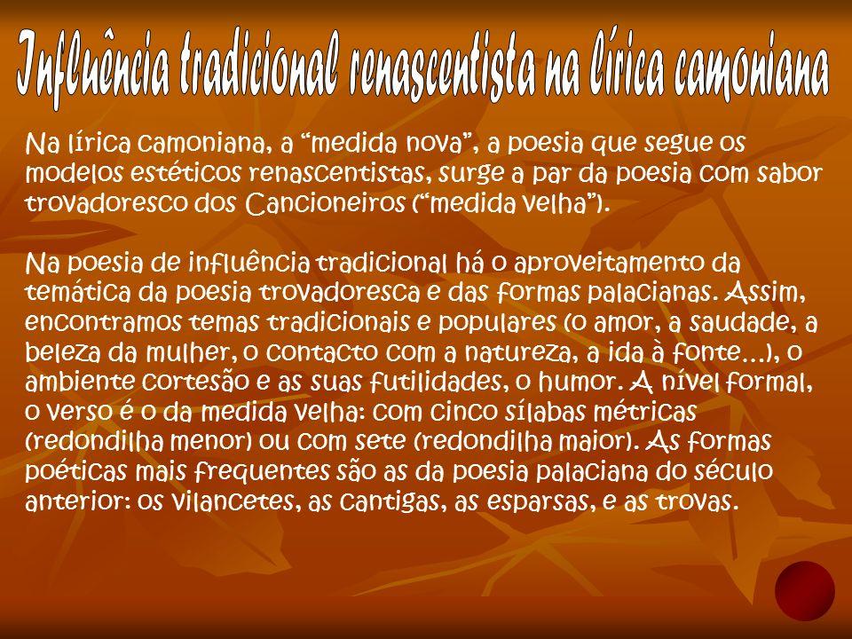 Um dos poetas que mais influenciou Camões na sua poesia foi o poeta e humanista italiano Petrarca.