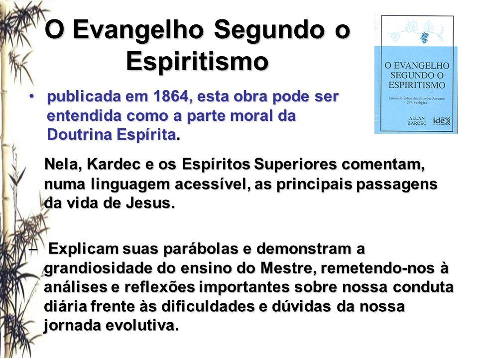 O Evangelho Segundo o Espiritismo Nela, Kardec e os Espíritos Superiores comentam, numa linguagem acessível, as principais passagens da vida de Jesus.