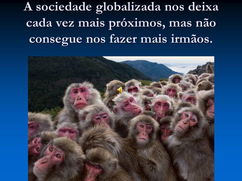 A sociedade globalizada nos deixa cada vez mais próximos, mas não consegue nos fazer mais irmãos.