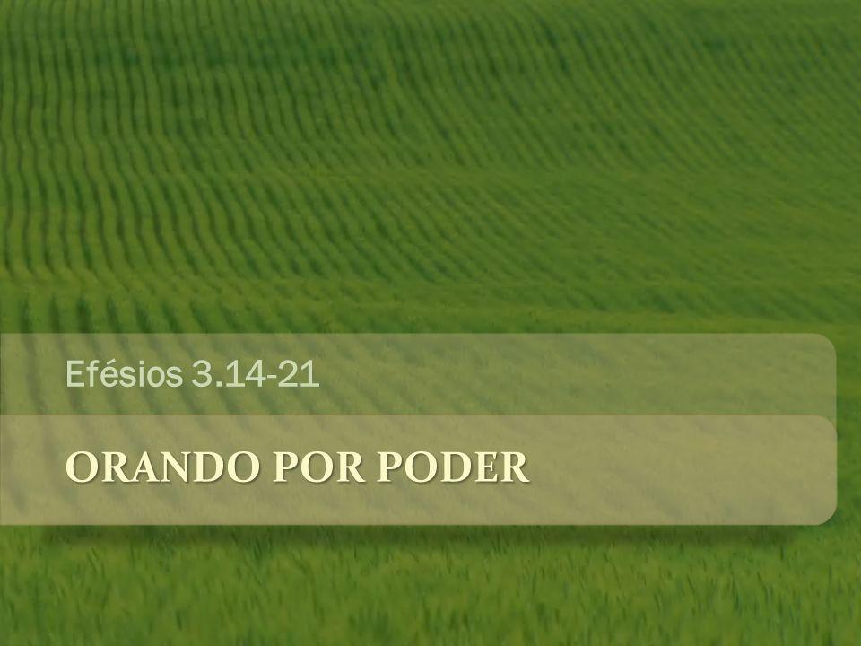 ORANDO POR PODER Efésios 3.14-21