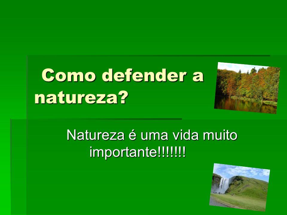 Como defender a natureza? Como defender a natureza? Natureza é uma vida muito importante!!!!!!!