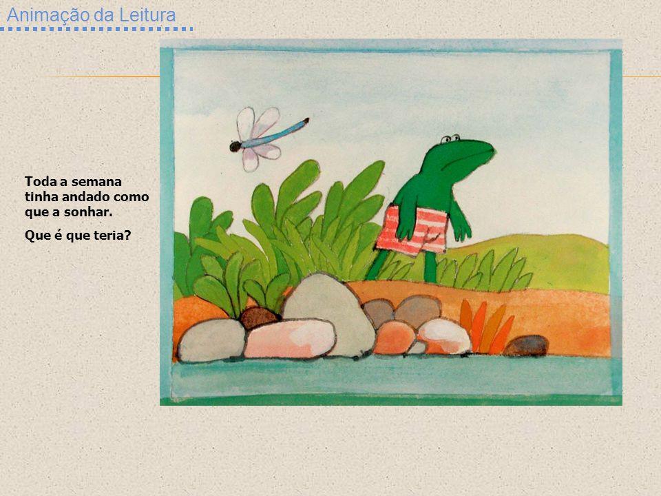 Animação da Leitura Toda a semana tinha andado como que a sonhar. Que é que teria?