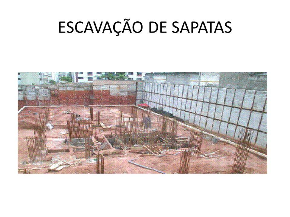 ESCAVAÇÃO DE SAPATAS