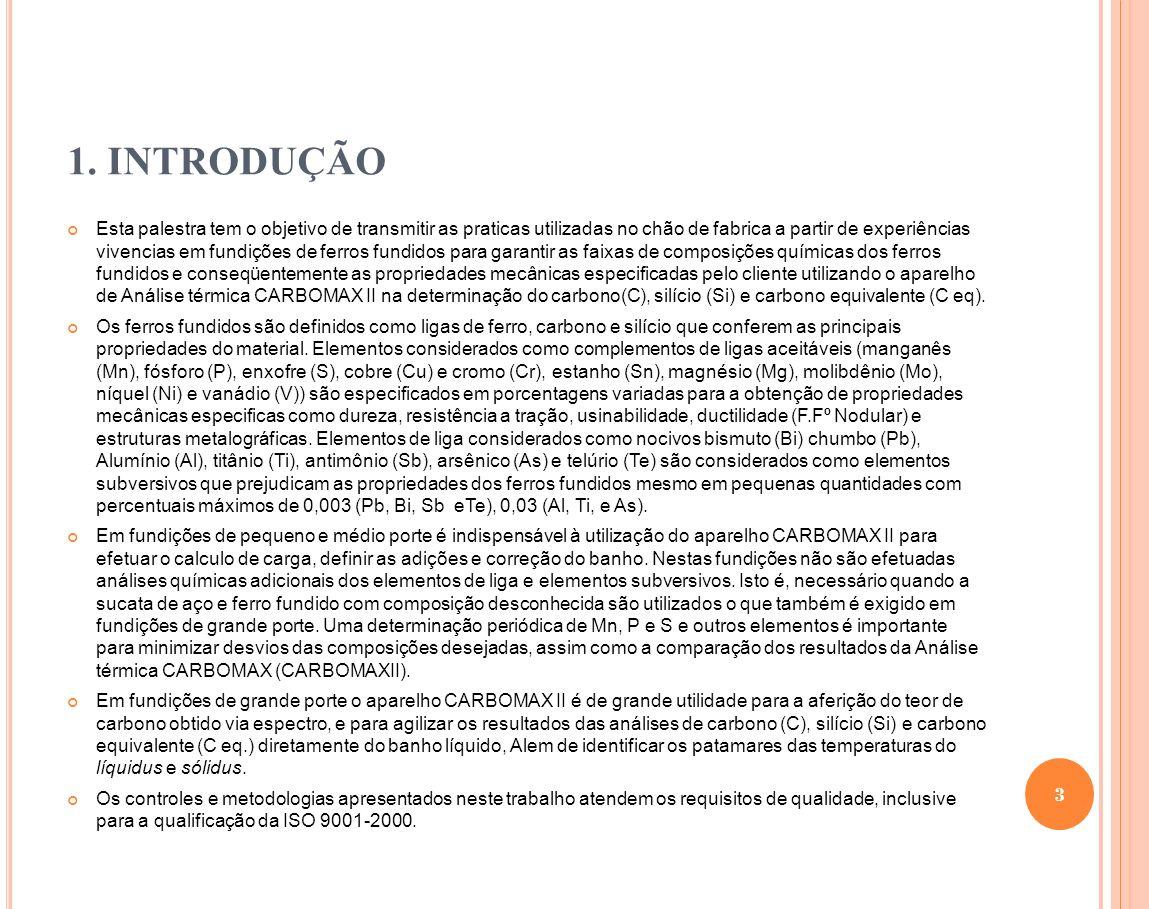 7.MATÉRIAS PRIMAS UTILIZADA NA FUSÃO 7.3.Matérias-primas 7.3.1.