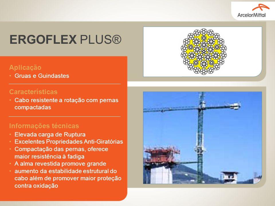 ERGOFLEX PLUS® Aplicação Gruas e Guindastes Características Cabo resistente a rotação com pernas compactadas Informações técnicas Elevada carga de Rup