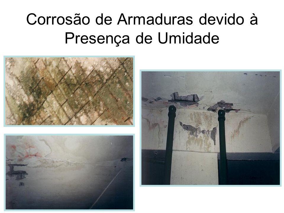 Corrosão de Armaduras devido à Presença de Umidade