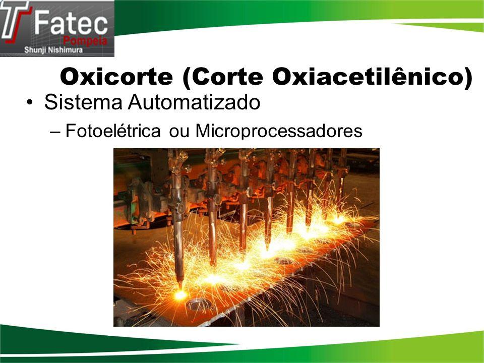 Oxicorte (Corte Oxiacetilênico) Sistema Automatizado –Fotoelétrica ou Microprocessadores