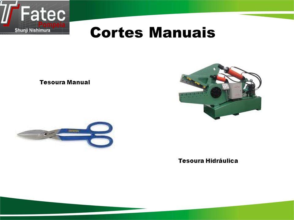 Tipos de tesouras Manual : Ferramenta manual que executa os mesmos movimentos de uma tesoura de costura.