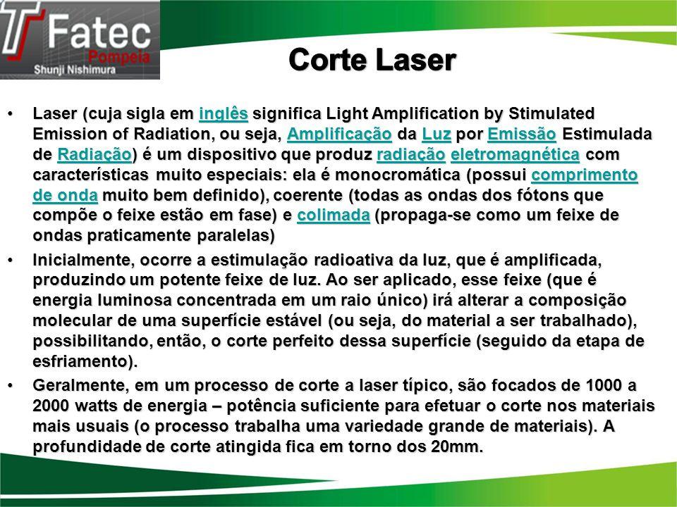A máquina de corte a laser é um equipamento que utiliza alta tecnologia.
