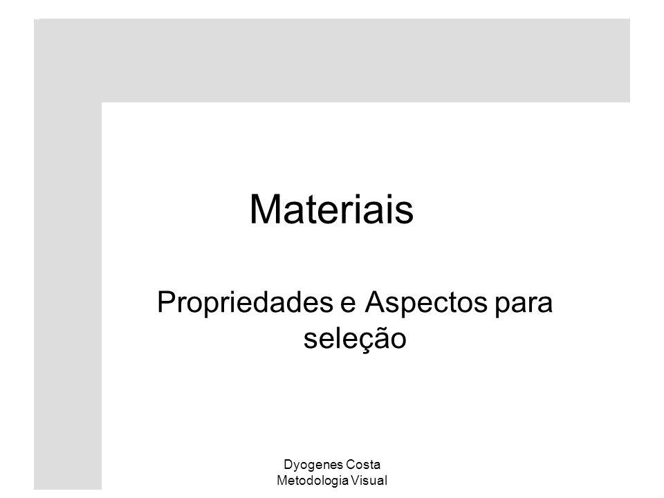 Dyogenes Costa Metodologia Visual Materiais Propriedades e Aspectos para seleção