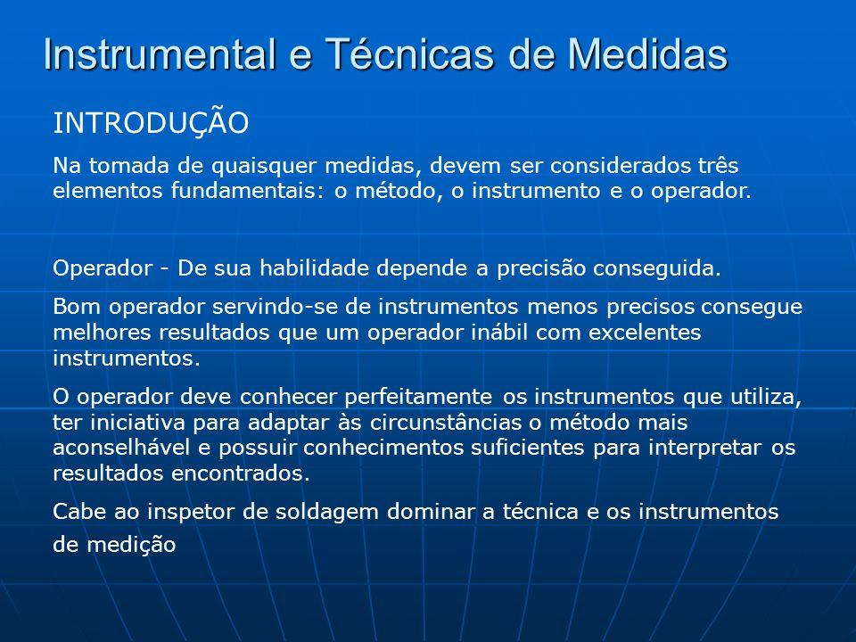 Instrumental e Técnicas de Medidas NORMAS GERAIS DE MEDIÇÃO 1 - Segurança 2 - Limpeza 3 - Cuidado 4 - Paciência 5 - Senso de responsabilidade 6 - Sensibilidade 7 - Finalidade da medida 8 - Instrumento adequado 9 - Domínio sobre o instrumento