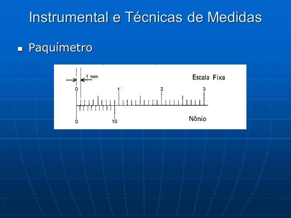 Instrumental e Técnicas de Medidas Paquímetro Paquímetro