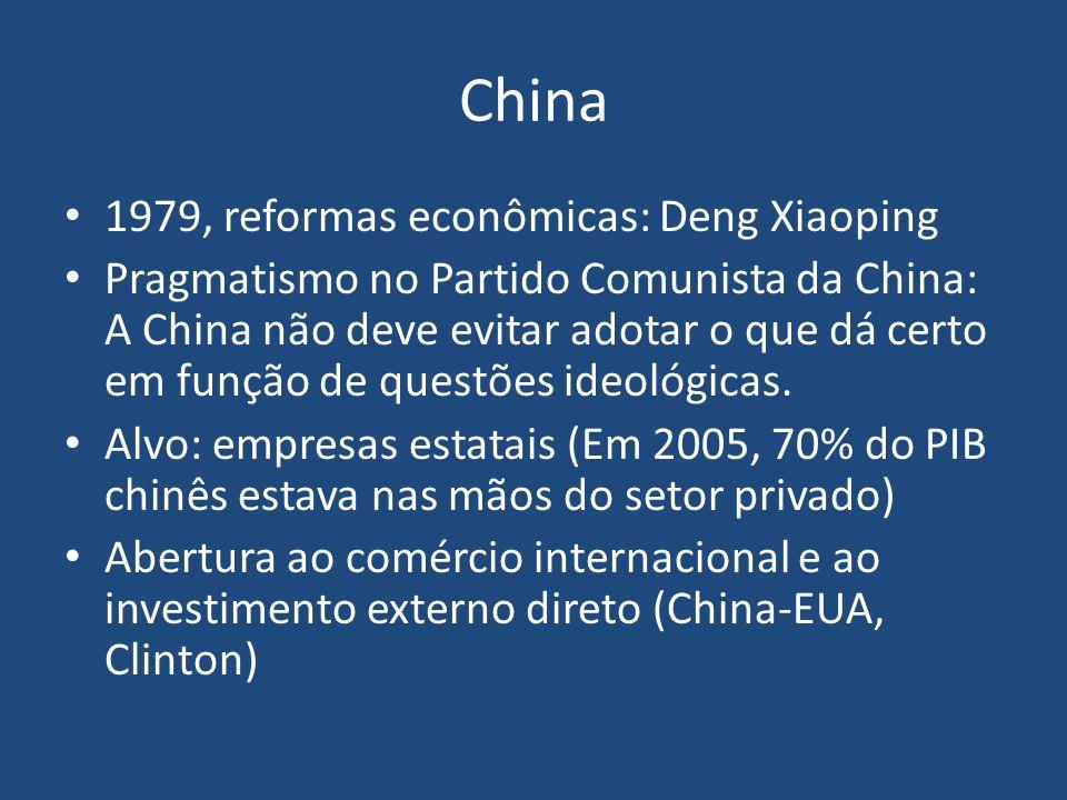 China 1979, reformas econômicas: Deng Xiaoping Pragmatismo no Partido Comunista da China: A China não deve evitar adotar o que dá certo em função de q