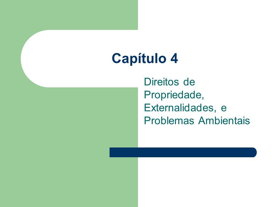 Capítulo 4 Direitos de Propriedade, Externalidades, e Problemas Ambientais
