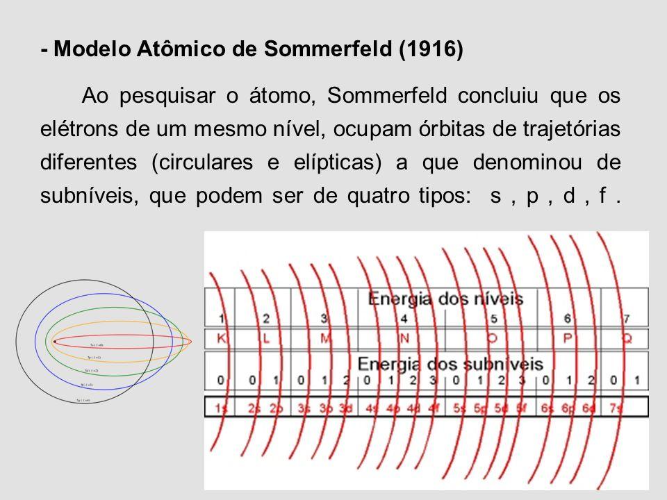 Órbitas: 1 circular e as demais elípticas