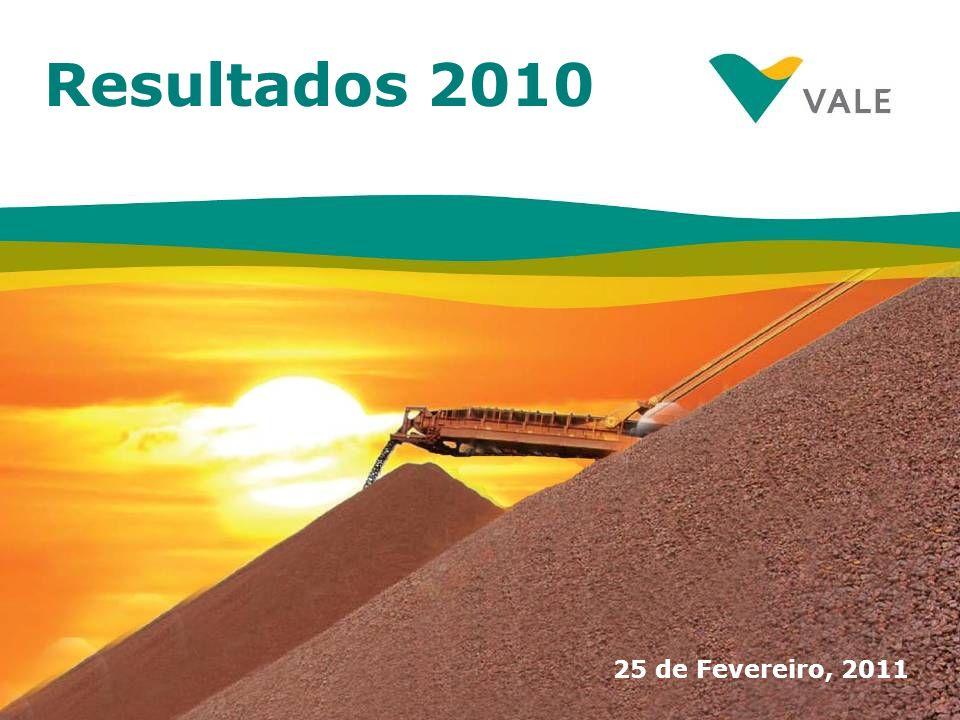 1 Resultados 2010 25 de Fevereiro, 2011