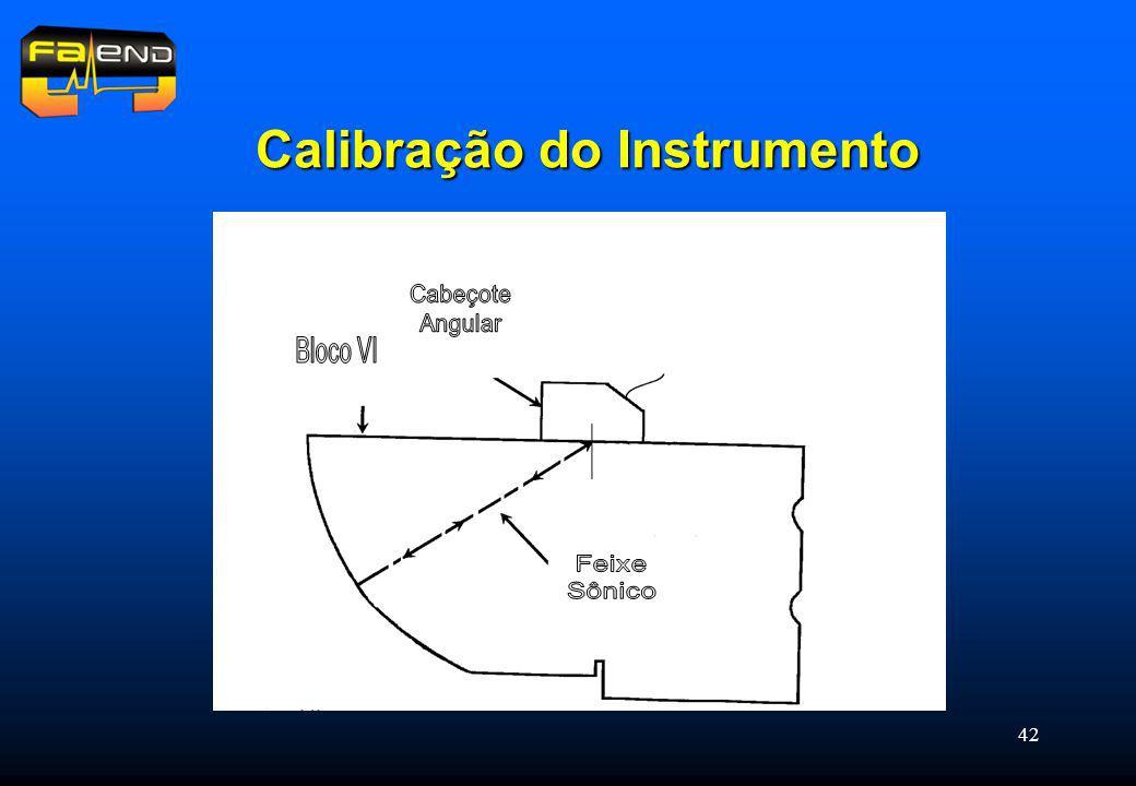 42 Calibração do Instrumento