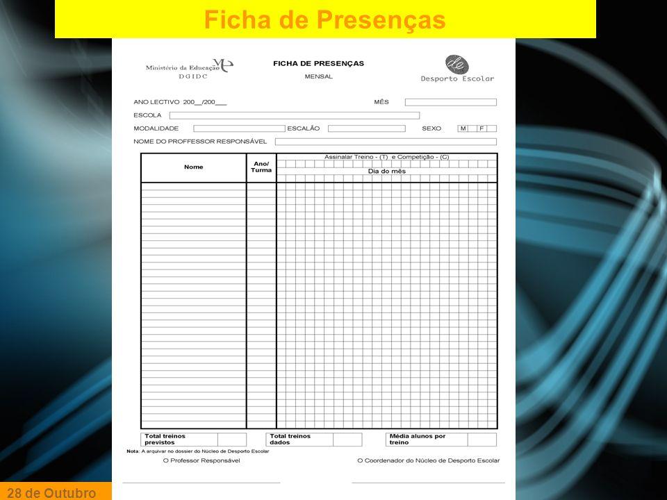 Ficha de Autorização E.E 28 de Outubro