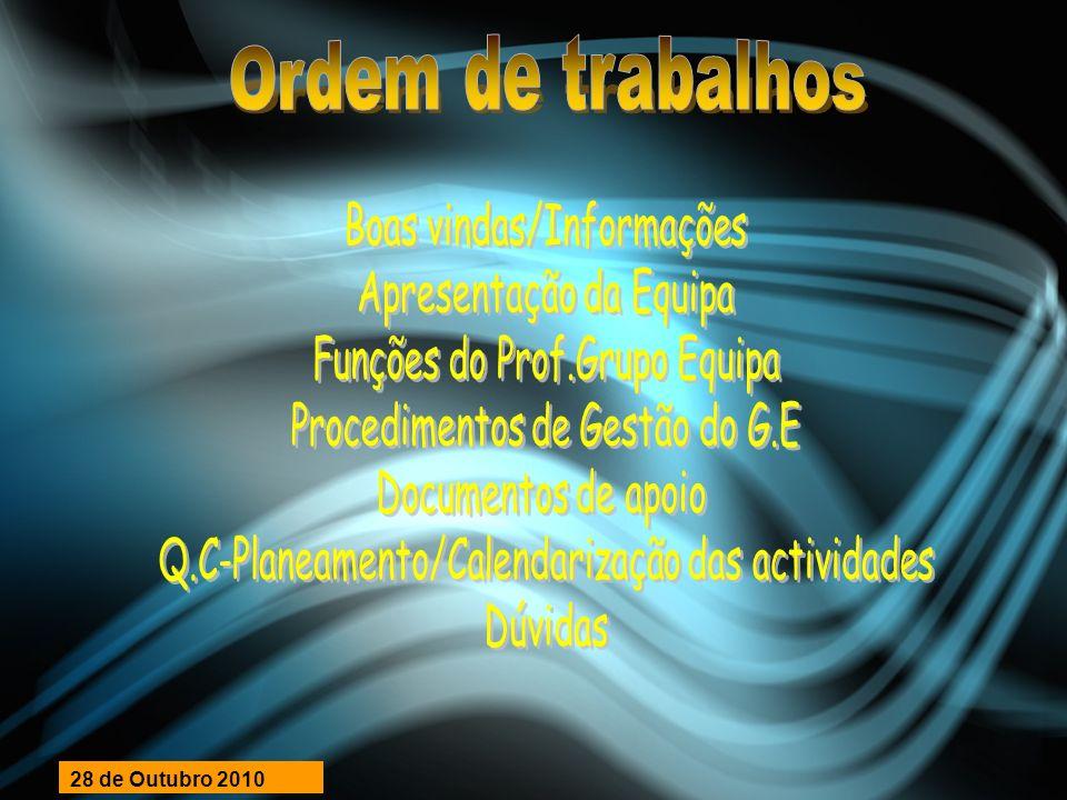 EQUIPA DE APOIO ÀS ESCOLAS CONCELHOS AMADORA/CASCAIS/OEIRAS COORDENADOR EAE ACO: NUNO CORREIA MAIL EAE:eae.aco@drelvt.min-edu.pt Desporto Escolar COORDENADOR D.E EAEACO: PAULO CAMPOS MAIL: paulo.campos@drelvt.min-edu.pt Fax:214040260 COORDENADOR MODALIDADE: Luís Tralhão (Conde Oeiras) MAIL: luis_tralhao@hotmail.com Fax: 21 458 21 27 (Envio boletins de Jogo) Sede: Escola Secundária Seomara da Costa Primo Rua Elias Garcia, n.º 329, 2700-323 Venteira – Amadora Telefone: 21 494 02 84/85/86 / Fax: 21 494 02 60 28 de Outubro 2010