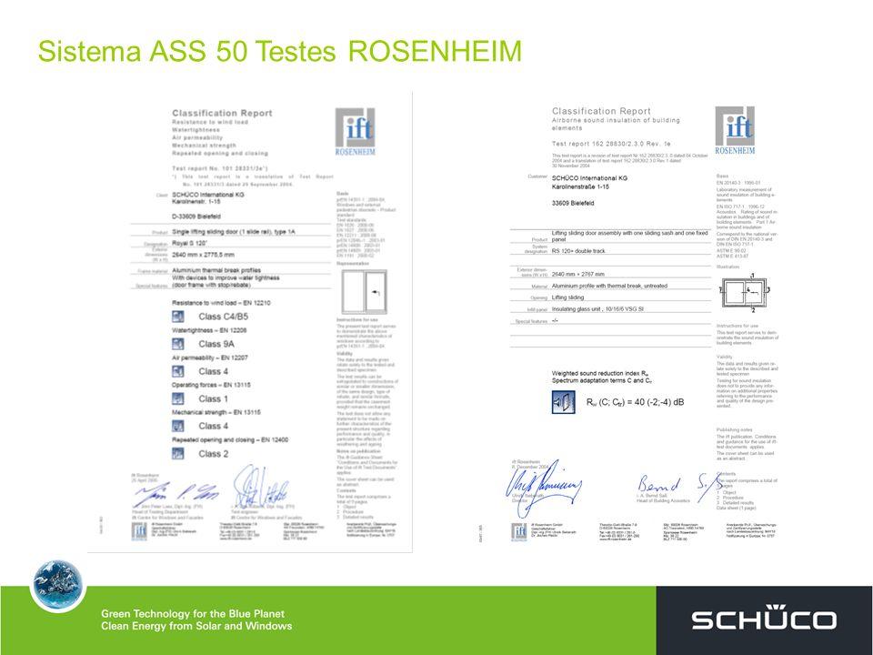 Sistema ASS 50 Testes ROSENHEIM