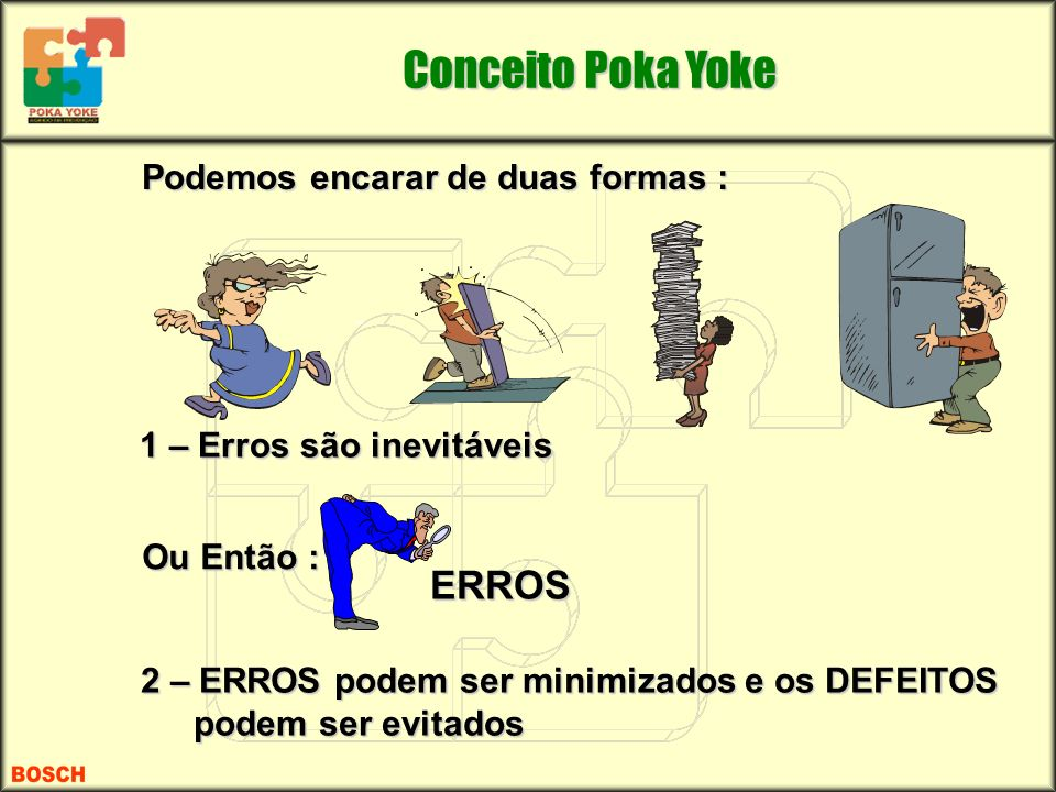 Podemos encarar de duas formas : Podemos encarar de duas formas : 1 – Erros são inevitáveis 2 – ERROS podem ser minimizados e os DEFEITOS podem ser ev