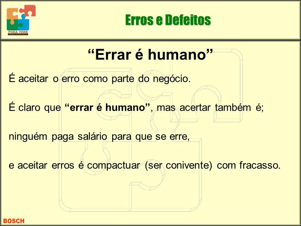 Errar é humano É aceitar o erro como parte do negócio. É claro que errar é humano, mas acertar também é; ninguém paga salário para que se erre, e acei