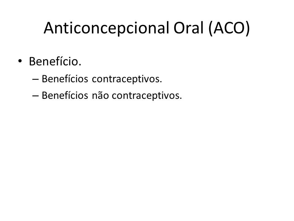 Anticoncepcional Oral (ACO) Critérios de elegibilidade da OMS.