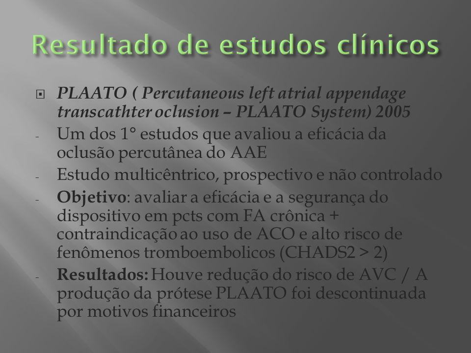 PROTECT-AF ( Rondomized Prospective Trial of Percutaneous LAA Closure vs.