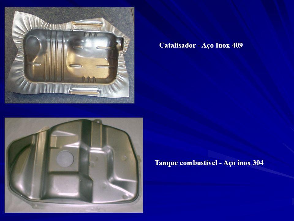 Catalisador - Aço Inox 409 Tanque combustível - Aço inox 304