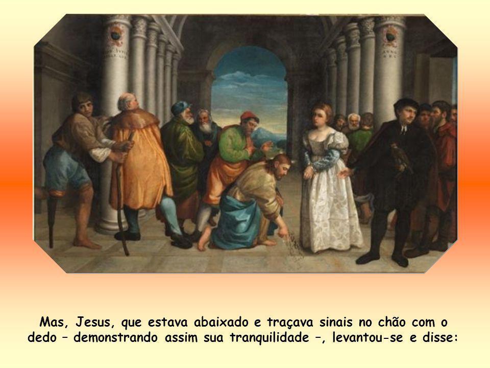 Quando todos se afastam da adúltera, ficam apenas dois – diz Santo Agostinho, bispo de Hipona –: a miséria e a misericórdia