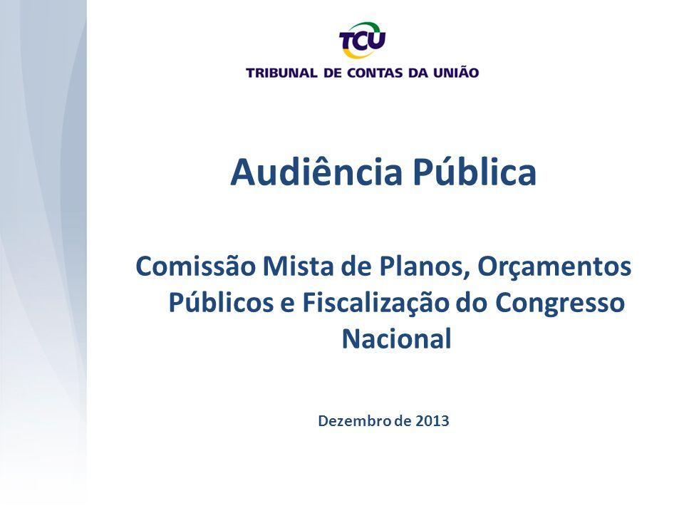 Audiência Pública Comissão Mista de Planos, Orçamentos Públicos e Fiscalização do Congresso Nacional Dezembro de 2013