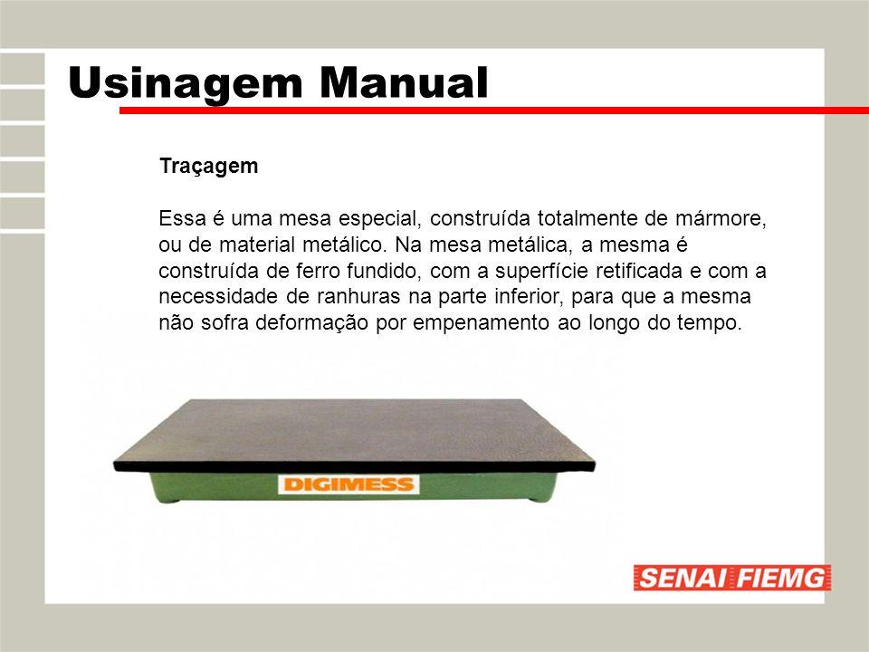 Traçagem Essa é uma mesa especial, construída totalmente de mármore, ou de material metálico. Na mesa metálica, a mesma é construída de ferro fundido,