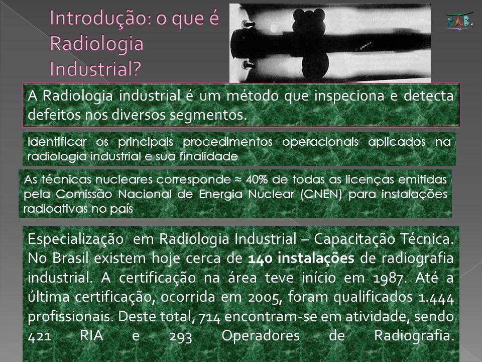 5 A Radiologia industrial é um método que inspeciona e detecta defeitos nos diversos segmentos. Identificar os principais procedimentos operacionais a