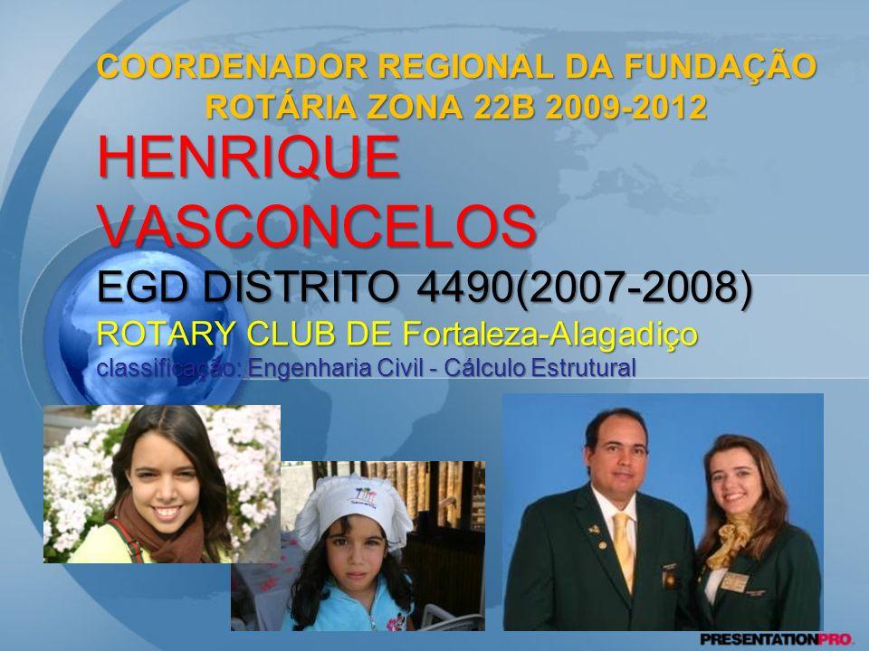 2 HENRIQUE VASCONCELOS EGD DISTRITO 4490(2007-2008) ROTARY CLUB DE Fortaleza-Alagadiço classificação: Engenharia Civil - Cálculo Estrutural COORDENADO