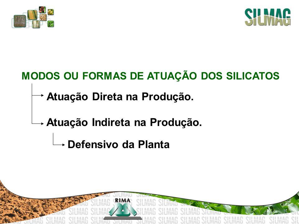 MODOS OU FORMAS DE ATUAÇÃO DOS SILICATOS Atuação Direta na Produção. Atuação Indireta na Produção. Defensivo da Planta