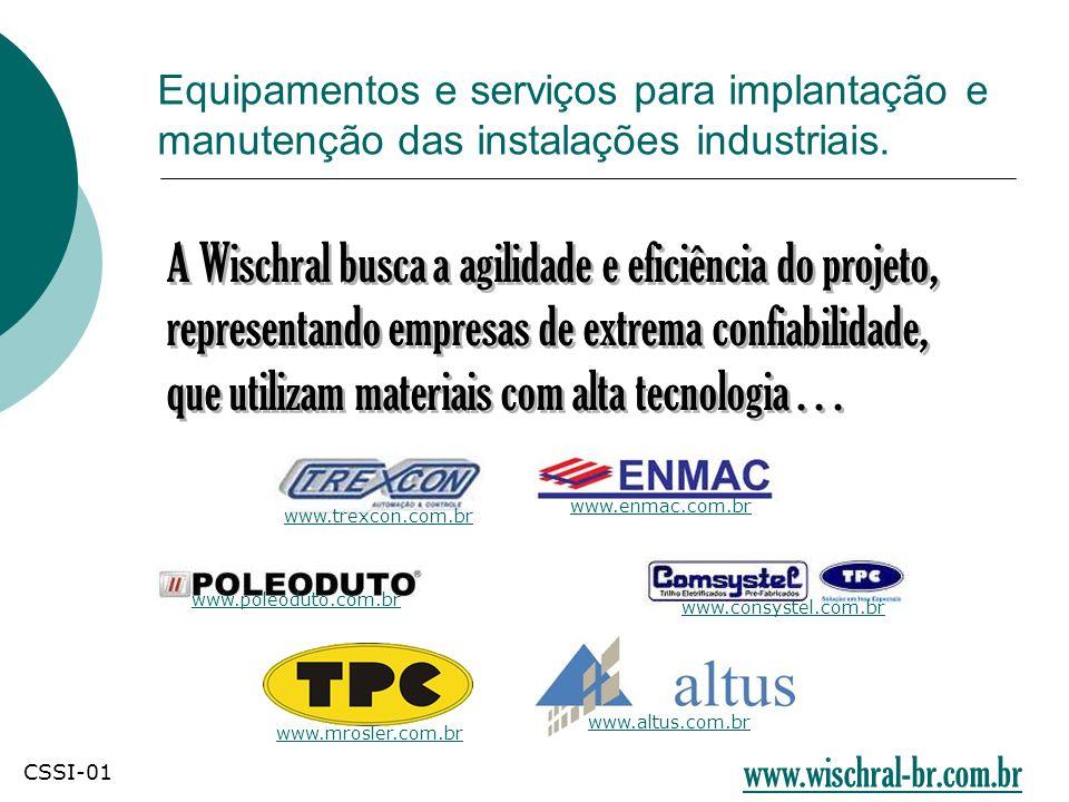 A Wischral busca a agilidade e eficiência do projeto, representando empresas de extrema confiabilidade, que utilizam materiais com alta tecnologia...