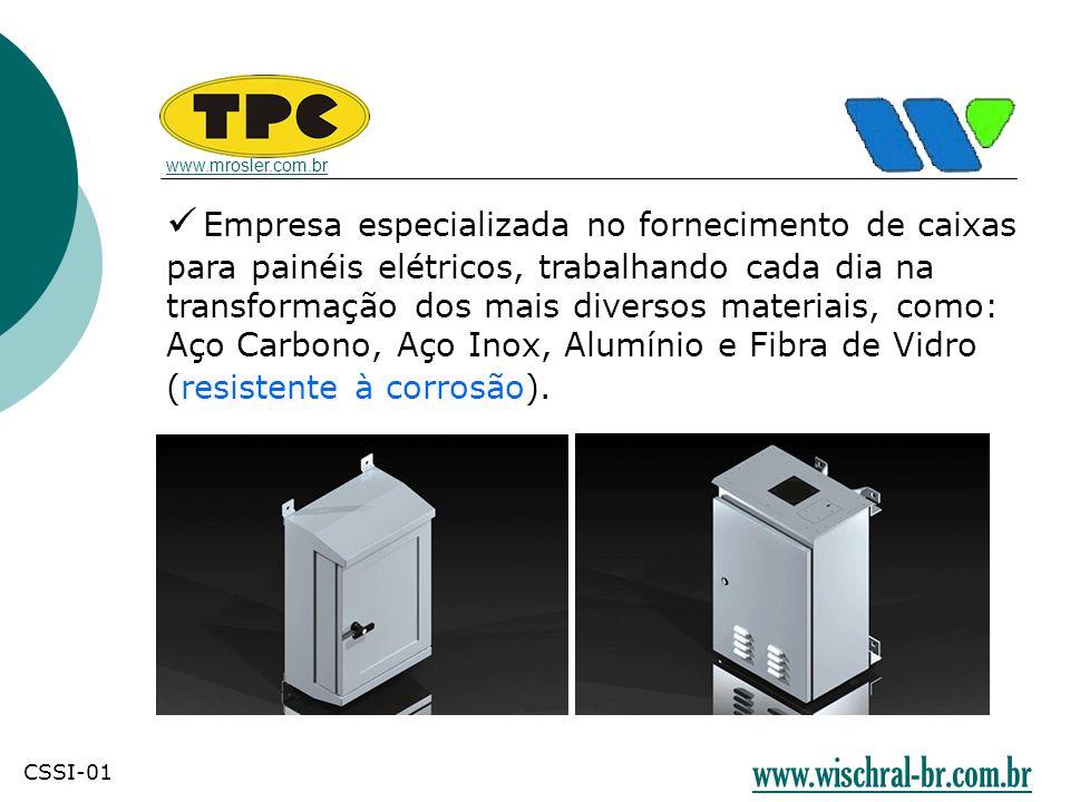 Empresa especializada no fornecimento de caixas para painéis elétricos, trabalhando cada dia na transformação dos mais diversos materiais, como: Aço C