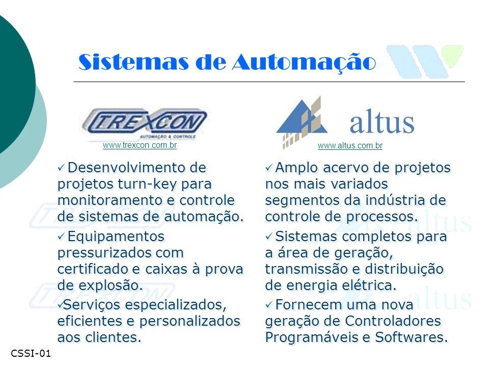 Fornecimento de equipamentos de automação industrial e serviços associados, que atendam seus requisitos normativos aplicáveis, tendo como meta a melhoria da eficiência do sistema.
